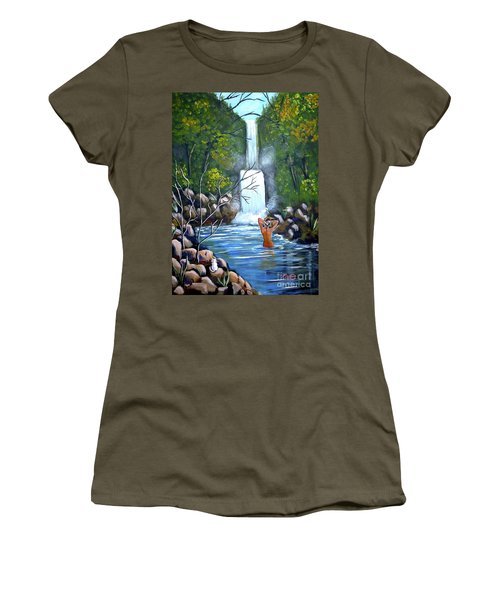 Nymph In Pool Women's T-Shirt (Athletic Fit)