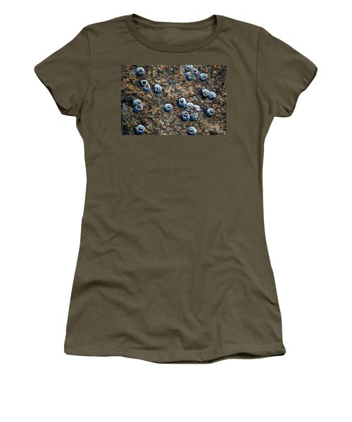 Women's T-Shirt (Athletic Fit) featuring the photograph Ocean's Quilt by Christiane Hellner-OBrien