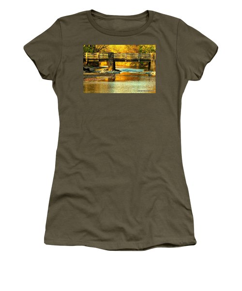 October At Robin Hood Dell Women's T-Shirt (Athletic Fit)