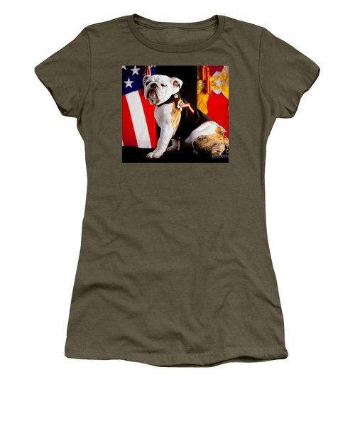 Official Mascot Of The Marine Corps Women's T-Shirt (Junior Cut) by Pg Reproductions