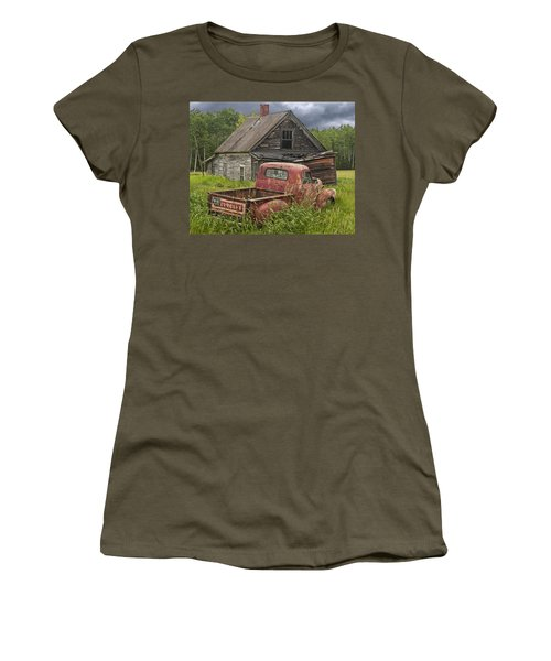 Old Abandoned Homestead And Truck Women's T-Shirt