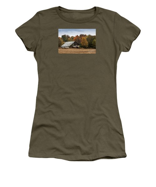 Women's T-Shirt (Junior Cut) featuring the photograph Old Barn by Debbie Green