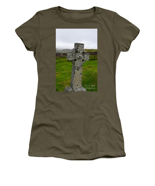 Old Cemetery Stones In Scotland Women's T-Shirt (Athletic Fit)
