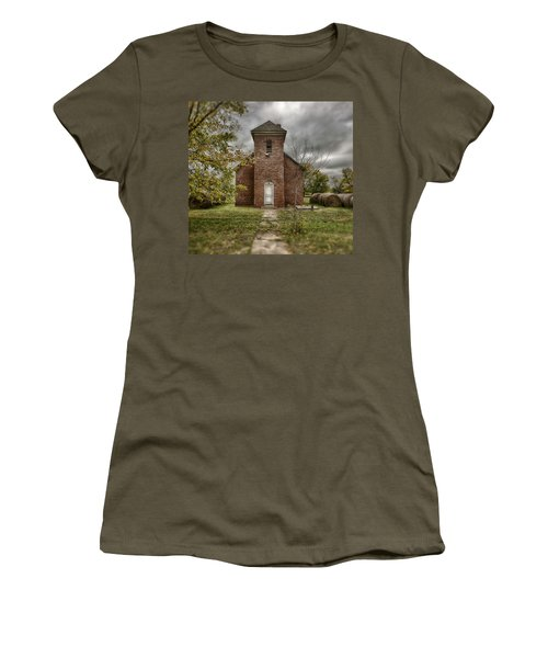Old Church In Fall Women's T-Shirt (Athletic Fit)