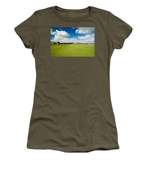 Old Course Fairways Women's T-Shirt (Junior Cut) by Jeremy Voisey