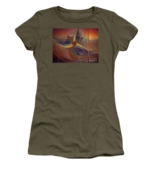 Old-fashionened Swing Boat In The Afterglow Women's T-Shirt