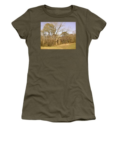 Old Haunted Tree Women's T-Shirt (Junior Cut) by Amazing Photographs AKA Christian Wilson