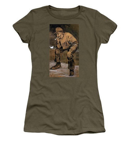 Old Man With A Pipe, 1883 Women's T-Shirt