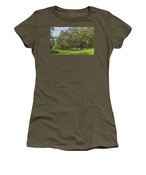 Women's T-Shirt (Junior Cut) featuring the photograph Old Oak Tree by Jane Luxton