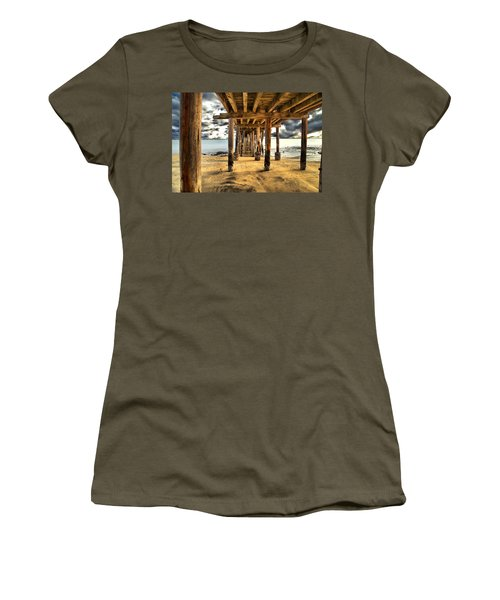 Old Pillar Point Pier Women's T-Shirt (Athletic Fit)
