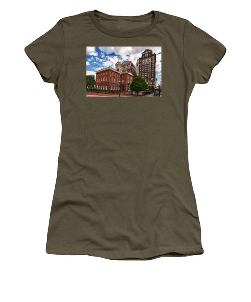 Old State House Women's T-Shirt (Junior Cut) by Guy Whiteley