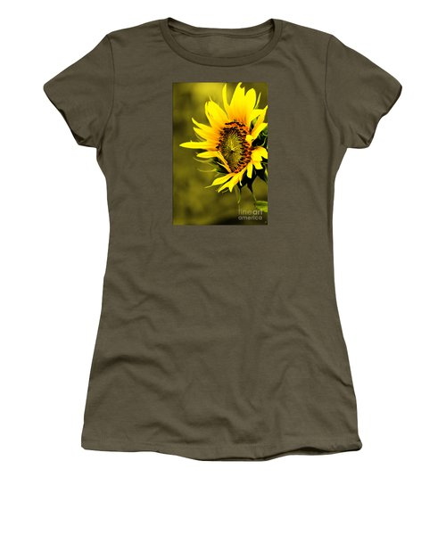 Old Time Sunflower Women's T-Shirt (Athletic Fit)