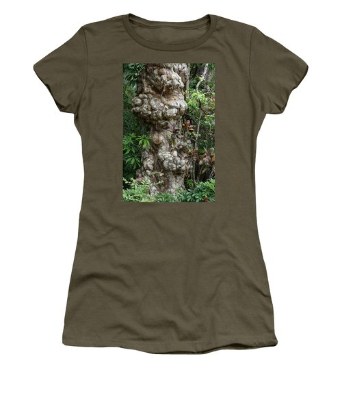 Women's T-Shirt (Junior Cut) featuring the mixed media Old Tree by Rafael Salazar