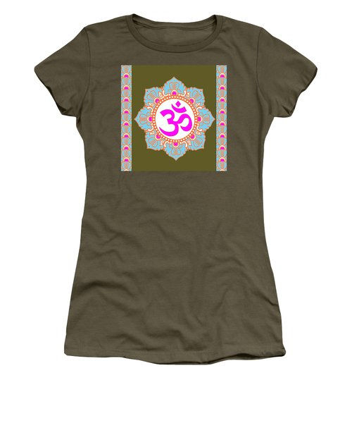 Women's T-Shirt (Junior Cut) featuring the photograph Om Mantra Ommantra 3 by Navin Joshi