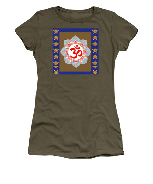 Women's T-Shirt (Junior Cut) featuring the photograph Om Mantra Ommantra Chant Yoga Meditation Tool by Navin Joshi