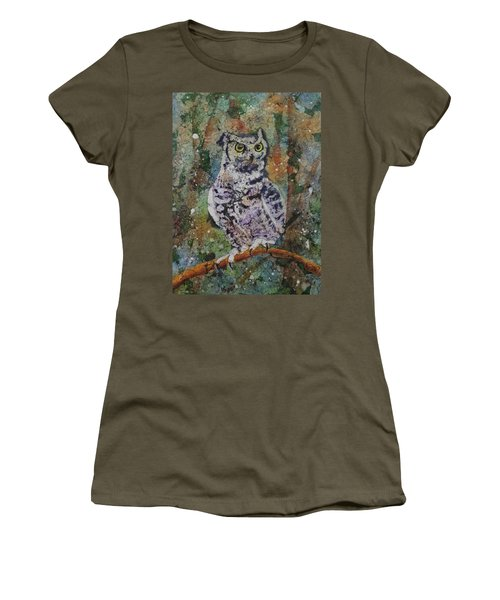 Women's T-Shirt featuring the painting On Alert by Ruth Kamenev