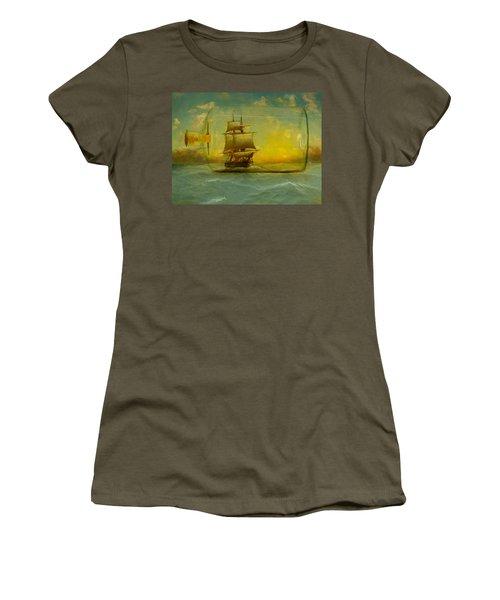 Once In A Bottle Women's T-Shirt (Junior Cut) by Jeff Burgess