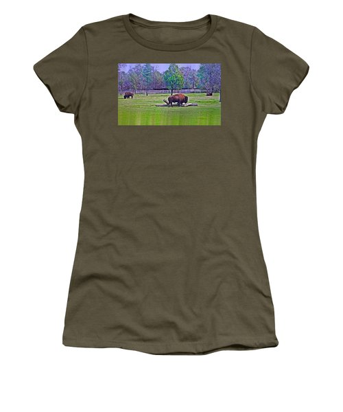 One Bison Family Women's T-Shirt (Athletic Fit)