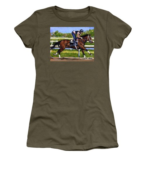Women's T-Shirt (Junior Cut) featuring the painting Onlyforyou by Molly Poole