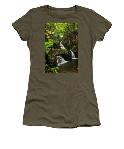 Onomea Falls Women's T-Shirt (Junior Cut) by James Eddy