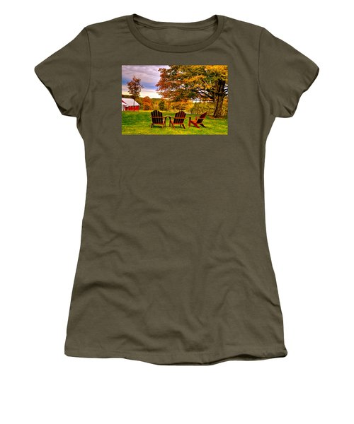 Women's T-Shirt featuring the photograph Open Seating by Andrea Platt