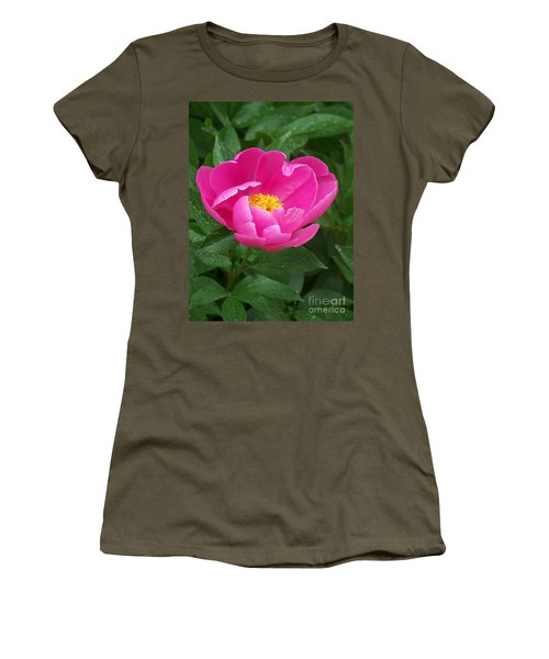 Women's T-Shirt (Junior Cut) featuring the photograph Peony  by Eunice Miller