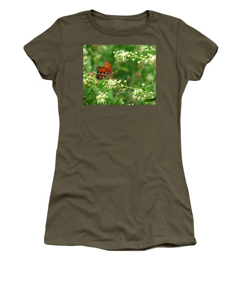 Women's T-Shirt (Junior Cut) featuring the photograph Orange Butterfly by Marcia Socolik