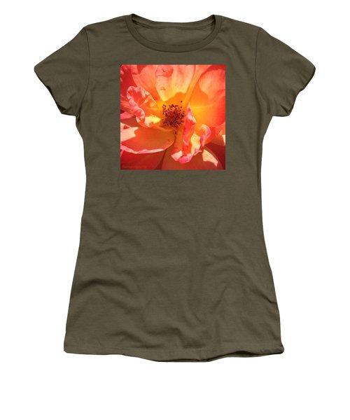 Orange Confection Rose Women's T-Shirt