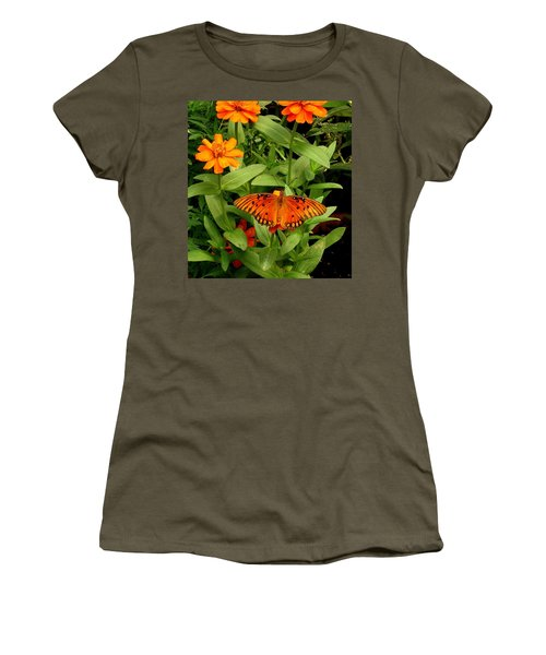 Orange Creatures Women's T-Shirt (Athletic Fit)