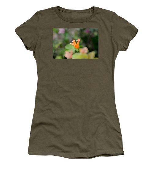 Orange Love Women's T-Shirt (Athletic Fit)