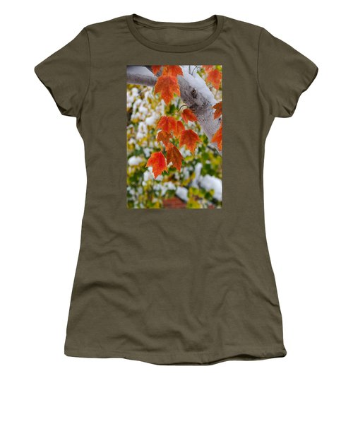 Orange White And Green Women's T-Shirt