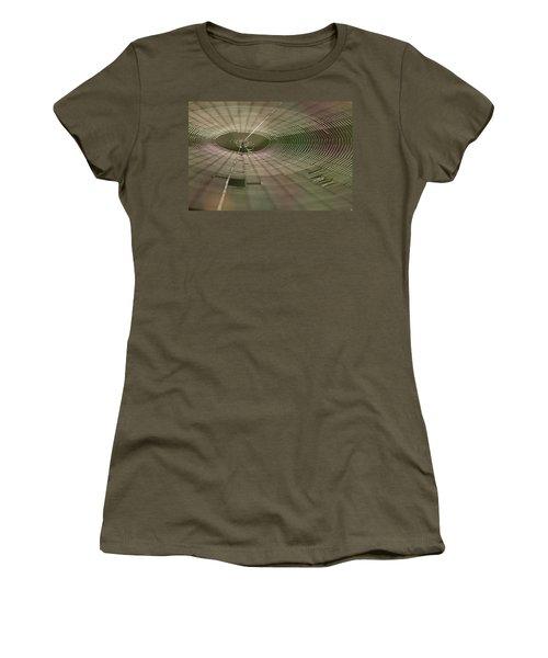 Women's T-Shirt (Junior Cut) featuring the photograph Orchard Orbweaver #1 by Paul Rebmann