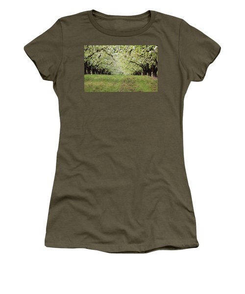 Women's T-Shirt (Junior Cut) featuring the photograph Orchard by Patricia Babbitt