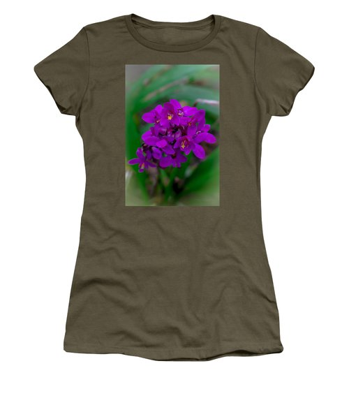 Orchid In Motion Women's T-Shirt (Athletic Fit)