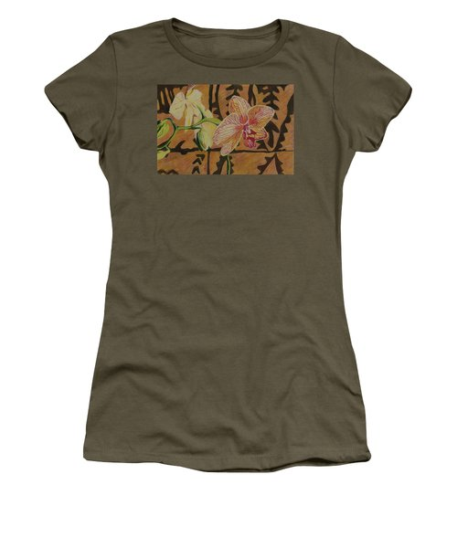 Orchid With Tapa Women's T-Shirt