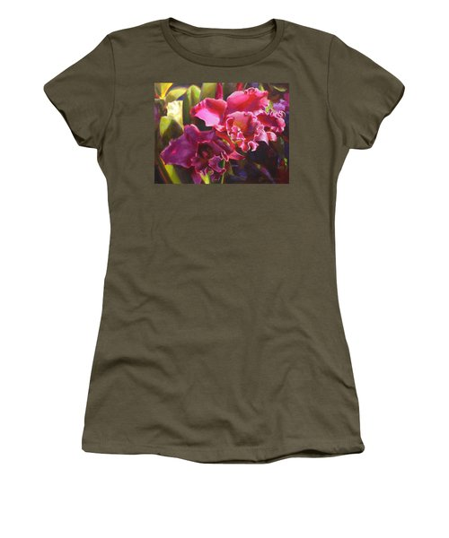 Orchids In Magenta Women's T-Shirt
