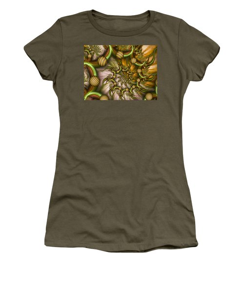 Organic Playground Women's T-Shirt (Junior Cut) by Gabiw Art