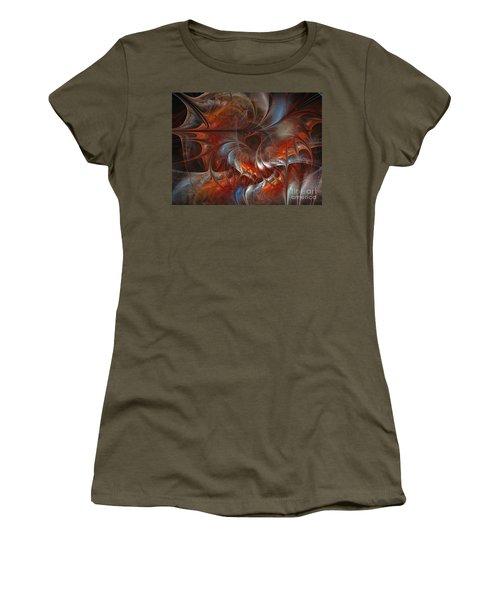 Oriental Sumptuousness-floral Fractal Design Women's T-Shirt