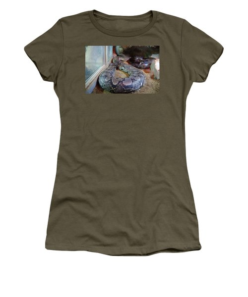 Out Of Africa  Black Snake Women's T-Shirt