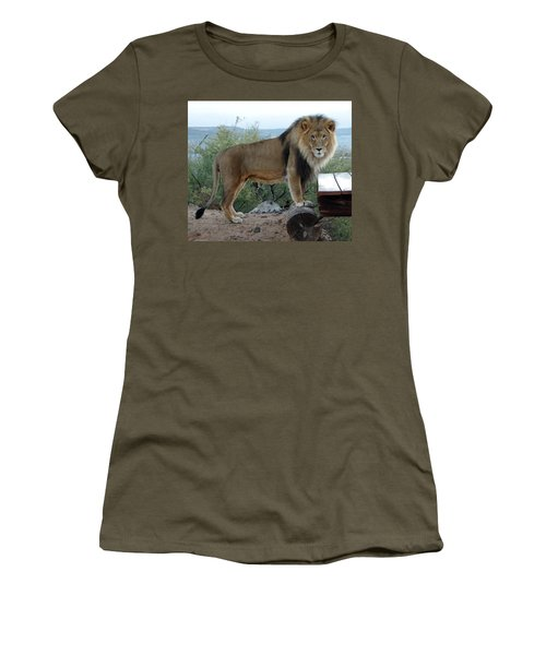 Out Of Africa  Lion 1 Women's T-Shirt (Athletic Fit)
