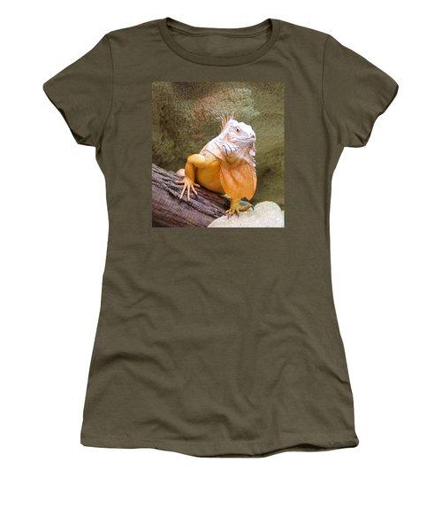 Out Of Africa Orange Lizard 1 Women's T-Shirt