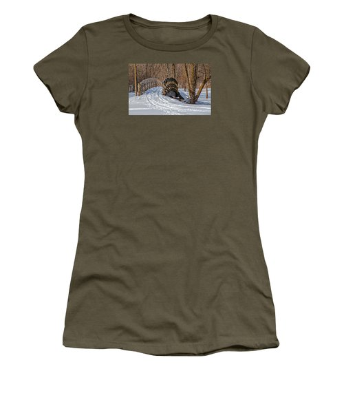 Over The River And Through The Woods Women's T-Shirt (Junior Cut) by Susan  McMenamin