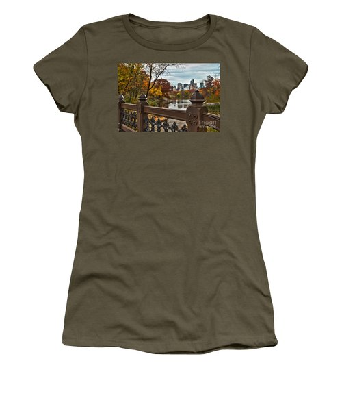 Overlooking The Lake Central Park New York City Women's T-Shirt