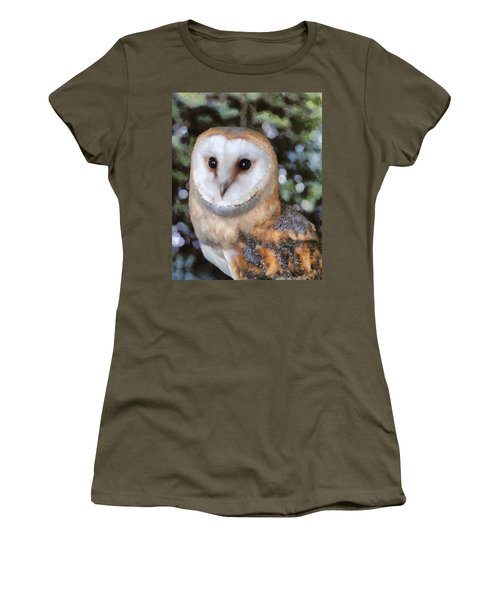Women's T-Shirt featuring the digital art Owl - Bright Eyes 2 by Paul Gulliver