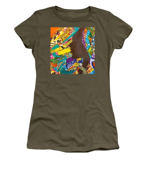 Women's T-Shirt (Junior Cut) featuring the tapestry - textile Oya I by Apanaki Temitayo M