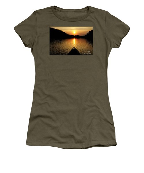 Paddling Off Into The Sunset Women's T-Shirt (Athletic Fit)