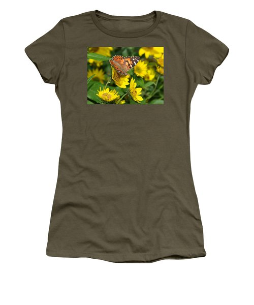 Women's T-Shirt (Junior Cut) featuring the photograph Painted Lady by James Peterson