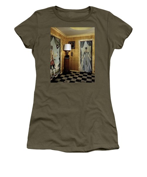 Paintings On The Walls Of Tony Duquette's House Women's T-Shirt