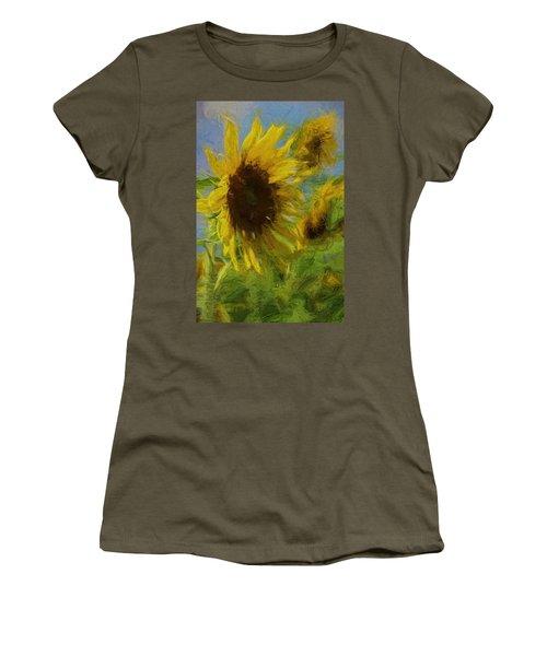 Painty Sunflower Women's T-Shirt