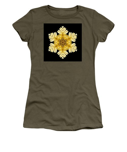 Pale Yellow Gerbera Daisy Vii Flower Mandalaflower Mandala Women's T-Shirt